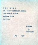 Organizations; Cui Bono; 1963-1964 by St. Paul Methodist Church