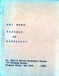 Organizations; Cui Bono; 1971 by St. Paul Methodist Church