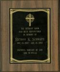Plaque; Bethany Room; 1989
