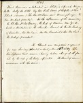 Records of Services; 1849-1854