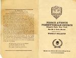 Church Bulletins; 1922-1983