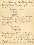 Constitution; Hand Written; no date