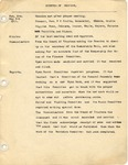 Session Minutes; May 1931-March 1934