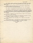 Session Minutes; May 1937-April 1942