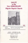 Church Anniversary 51st; 1985-09-29 by Pilgrim Missionary Baptist Church