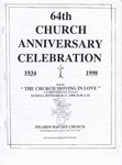 Church Anniversary 64th; 1998-09-27 by Pilgrim Missionary Baptist Church