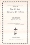 Pamphlet Pastor Anniversary 12th; 1975-10-26