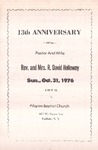 Pamphlet Pastor Anniversary 13th; 1976-10-31 by Pilgrim Missionary Baptist Church