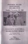 Pamphlet Pastor Anniversary 25th; 1988-11-20