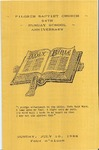 Pamphlet Sunday School Anniversary 54th; 1988-07-10 by Pilgrim Missionary Baptist Church