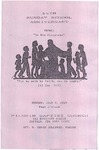 Pamphlet Sunday School Anniversary 55th; 1989-07-09 by Pilgrim Missionary Baptist Church