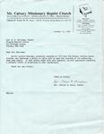 1980-10-12; Letter; Rev R.D. Holloway Pastor