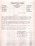 1990-12-12; Letter; Resolution Signed by Pilgrim Missionary Baptist Church