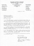 1992-11-13; Letter; Reverand Herman Potts by Pilgrim Missionary Baptist Church
