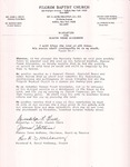 Undated; Letter; Resolution for Deacon Frank Alexander