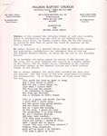 Undated; Letter; Resolution for Mother Jesse Davis