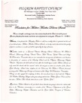 Undated; Letter; Resolution for Mother Martha Delores Swink