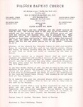 Undated; Letter; Resolution for Sister Gladys Mae Brown
