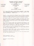 Undated; Letter; Resolution for Sister Katherine Kirckland
