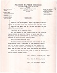 Undated; Letter; Resolution for Sister Oda Mae Head