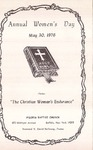 1976-05-30; Pamphlet; Annual Womens Day by Pilgrim Missionary Baptist Church