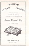 1977-05-29; Pamphlet; Annual Womens Day by Pilgrim Missionary Baptist Church