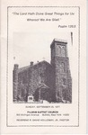 1977-09-25; Pamphlet; Pilgrim Baptist Church Holloway by Pilgrim Missionary Baptist Church