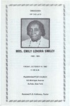 1983-10-14; Pamphlet; Mrs Emily Lenora Smiley Obituary