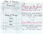 1987-05-17; Pamphlet; Praise ye the Lord