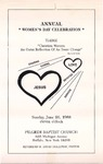 1988-06-26; Pamphlet; Annual Womens Day Celebration