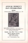1989-06-18; Pamphlet; Annual Womens Day Celebration