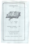 1989-10-11; Pamphlet; Homecoming Service for Y C P Age