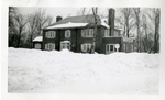 Rockwell Campus House Residence Winter Exterior Photograph; 1938 by Harry W. Rockwell