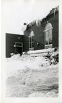 Theater Arts Building Winter Exterior Photograph; 1938