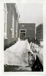 Theater Arts Building Winter Exterior Photograph; 1938 by Harry W. Rockwell