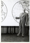 Dr. Harry W. Rockwell with Maps Photograph; c. 1940-1950