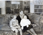 Marjorie Rockwell With Daughters Photograph; c. 1929-1930 by Harry W. Rockwell