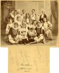 """""""Gondoliers"""" Choral Club of Ithaca Cast Members Photograph; 1894; Image 3 by Harry W. Rockwell"""