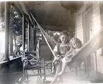 Children on Hammock Photograph by Harry W. Rockwell