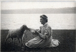 Family Member with Lamb Photograph by Harry W. Rockwell