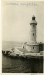 France; Marseilles; 1926; Harbor Lighthouse; Photograph by Harry W. Rockwell