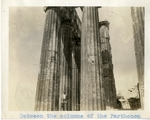 Greece; Athens; 1926; Parthenon Columns; Photograph by Harry W. Rockwell