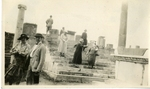 Greece; Athens; 1926; Dr. Harry W. Rockwell and Company at the Parthenon; Photograph