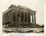 Greece; Athens; 1926; Parthenon; Photograph by Harry W. Rockwell