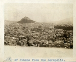 Greece; Athens; 1926; View of Athens; Photograph by Harry W. Rockwell