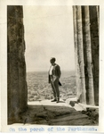 Greece; Athens; 1926; Unknown Man at the Parthenon; Photograph by Harry W. Rockwell