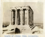 Greece; Athens; 1926; Temple of Athena Nike; Photograph by Harry W. Rockwell