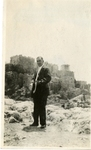 Greece; Athens; 1926; Unknown Man at the Acropolis; Photograph by Harry W. Rockwell