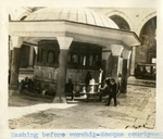 Turkey; Constantinople; 1926; Mosque Courtyard; Photograph