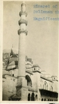 Turkey; Constantinople; 1926; Sulieman Mosque Minaret; Photograph by Harry W. Rockwell